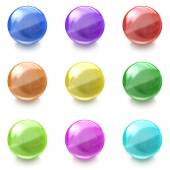 Set of colorful glass balls on white background — Стоковое фото
