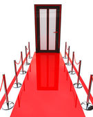 Red carpet and closed door  — Stock Photo