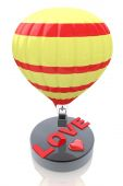 Balloon with the word Love - Valentine's Day concept — Stock Photo