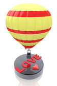 Balloon with the word Love - Valentine's Day concept — Stockfoto