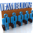 Characters 3d people - Team building — Stock Photo #65018485