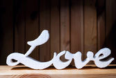 Decorative letters forming word LOVE — Stock Photo