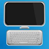 Monitor e tastiera — Vettoriale Stock