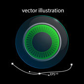 Lens illustration — Stock Vector