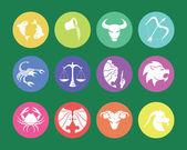 Signos del zodiaco y símbolos — Vector de stock