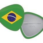 Vector Flag Badge Series - Brazil — Stock Vector #57936131