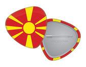 Vector Flag Badge Series - Macedonia — Stock Vector