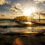 Beautyful, golden sunset over the sea — Stock Photo #53874861