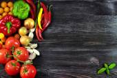 Background with fresh, autumn vegetables — Stock Photo