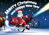 Santa new year cards — Stock Photo
