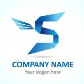 S fly logo template — Stock Vector