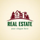 Real estate logo forest — 图库矢量图片