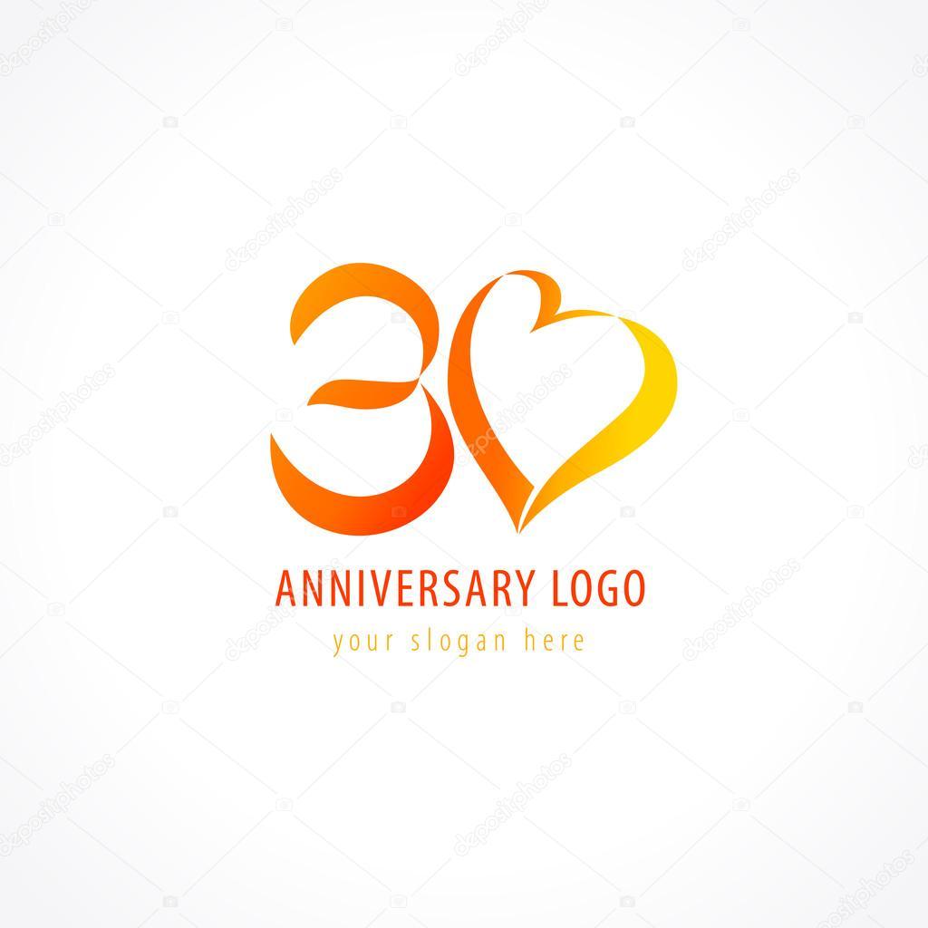 Anniversary logo love stock vector � koltukov alek