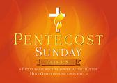 Pentecost sunday card — Stock Vector