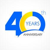 40 years anniversary logo — Stock Vector