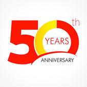 50 years anniversary logo — Stock Vector