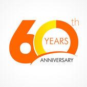 60 years anniversary logo — Stock Vector