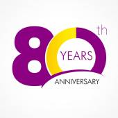 80 years anniversary logo — Vector de stock