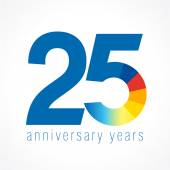 25 anniversary logo — Stock Vector