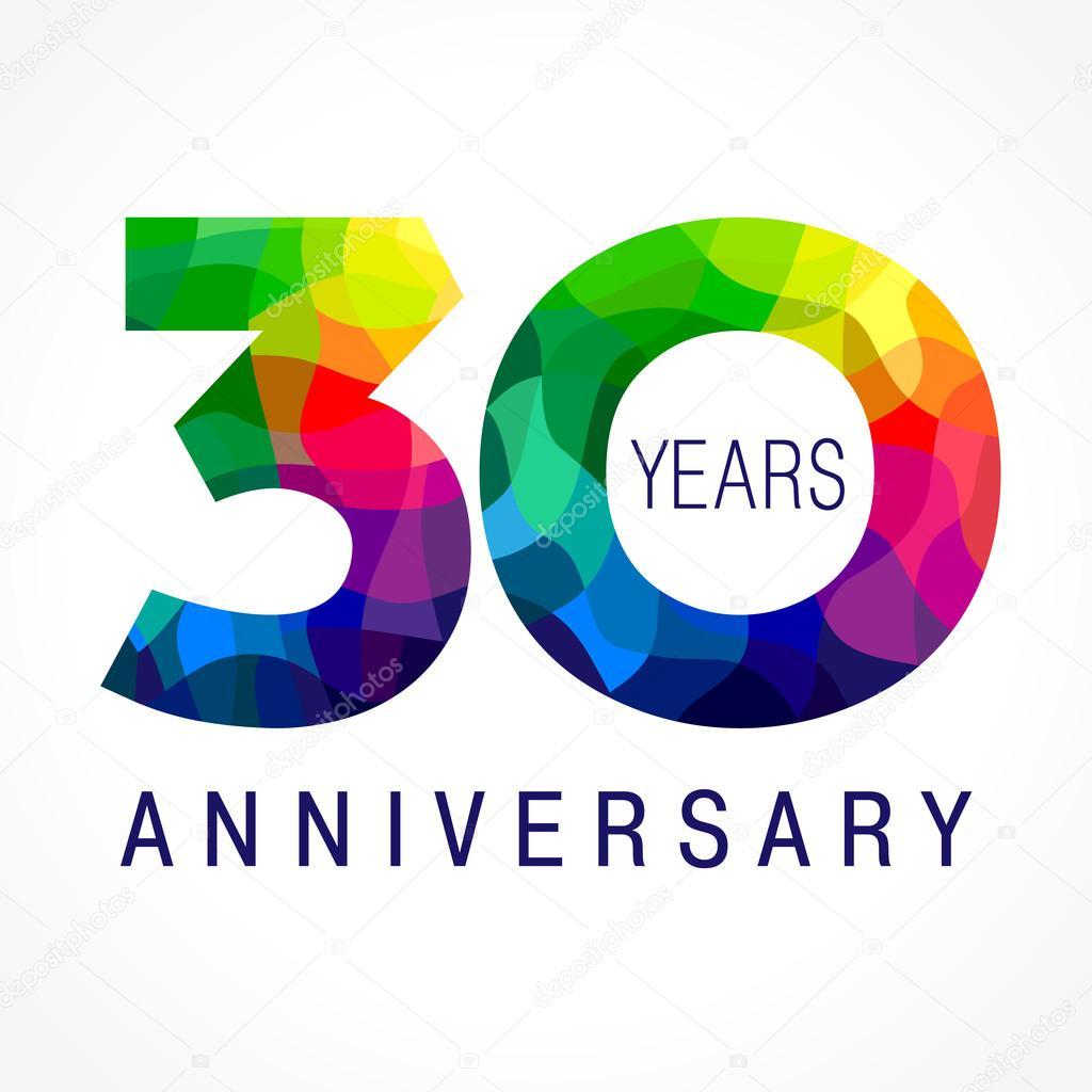 30 Anniversary Color Logo Stock Vector 169 Koltukov Alek