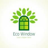 Eco window logo — Stock Vector