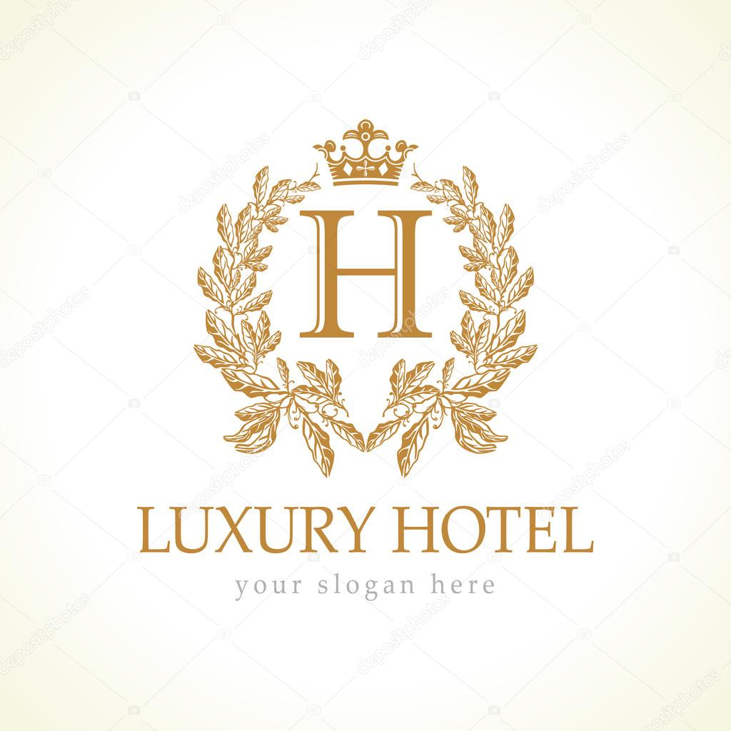 Luxury hotel logo stock vector koltukov alek 81125398 for Boutique hotel logo