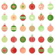 Christmas balls — Stock Vector #53834647