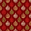 Seamless pattern of Christmas balls — Stock Vector #53834689