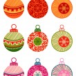 Christmas balls isolated on white background — Stock Vector #53834931