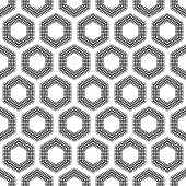 Checkered hexagons seamless pattern.  — Stock Vector