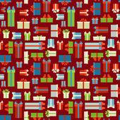 Patrón de cajas de regalo transparente. — Vector de stock