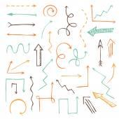 Vector set of sketch arrows. — Stock Vector