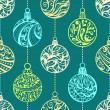 Seamless pattern of Christmas balls — Stock Vector #54271309