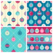 Four Christmas seamless patterns — Stock Vector #54271327