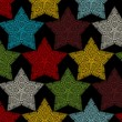Постер, плакат: Seamless pattern of crochet stars