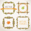 Vintage autumn frames. — Stock Vector #54272209