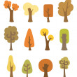 Autumnal trees — Stock Vector #54272649