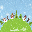 Winter square background — Stock Vector #54272767