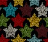 Seamless pattern of crochet stars.  — Stock Vector