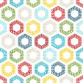 Seamless pattern of coloured hexagons.  — Stock Vector