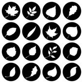 Set of round nature icons.  — Vettoriale Stock