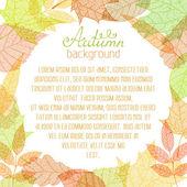 Square autumn background.  — Stock Vector
