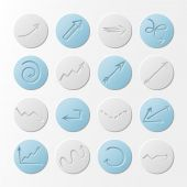 Set of round paper icons. — Stock Vector