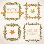 Vintage autumn frames.  — Stock Vector