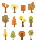 Autumnal trees — Stock Vector