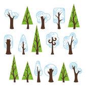 árvores de inverno — Vetorial Stock