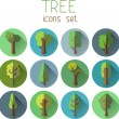 Trees round icons — Stock Vector #54973677