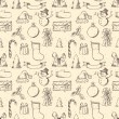 Seamless sketch Christmas pattern. — Stock Vector #54973821