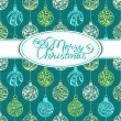 Festive background with Christmas balls — Stock Vector #54973865