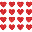 Set of red vintage hearts — Stock Vector #54974215
